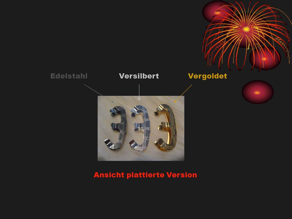 EdelstahlVersilbertVergoldet Ansicht plattierte Version