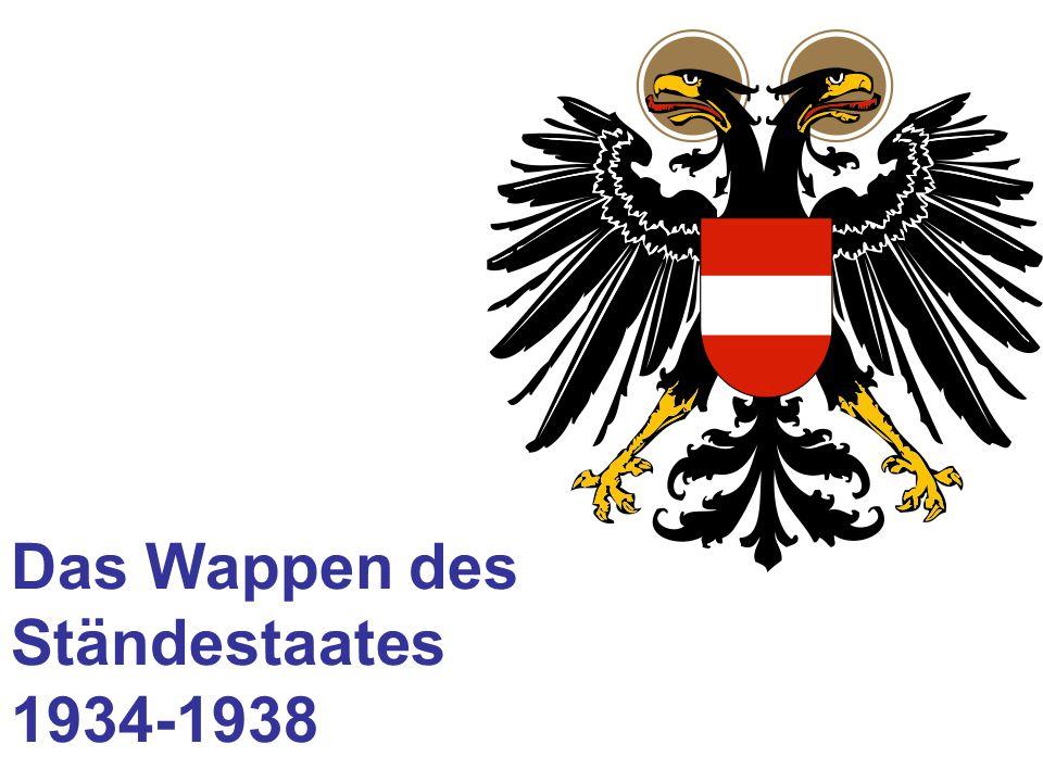 Das Wappen des Ständestaates 1934-1938