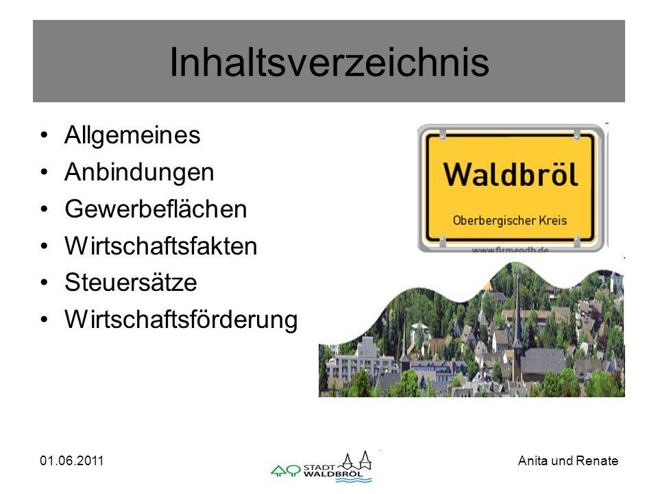 01.06.2011Anita und Renate Allgemeines Waldbröl ist eine Stadt im Süden des Oberbergischen Kreises.