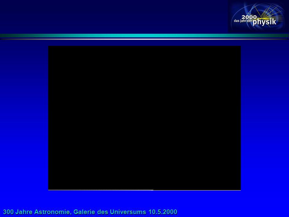 300 Jahre Astronomie, Galerie des Universums 10.5.2000 Großräumige Simulationen absolute Koordinatenmitbewegte Koordinaten