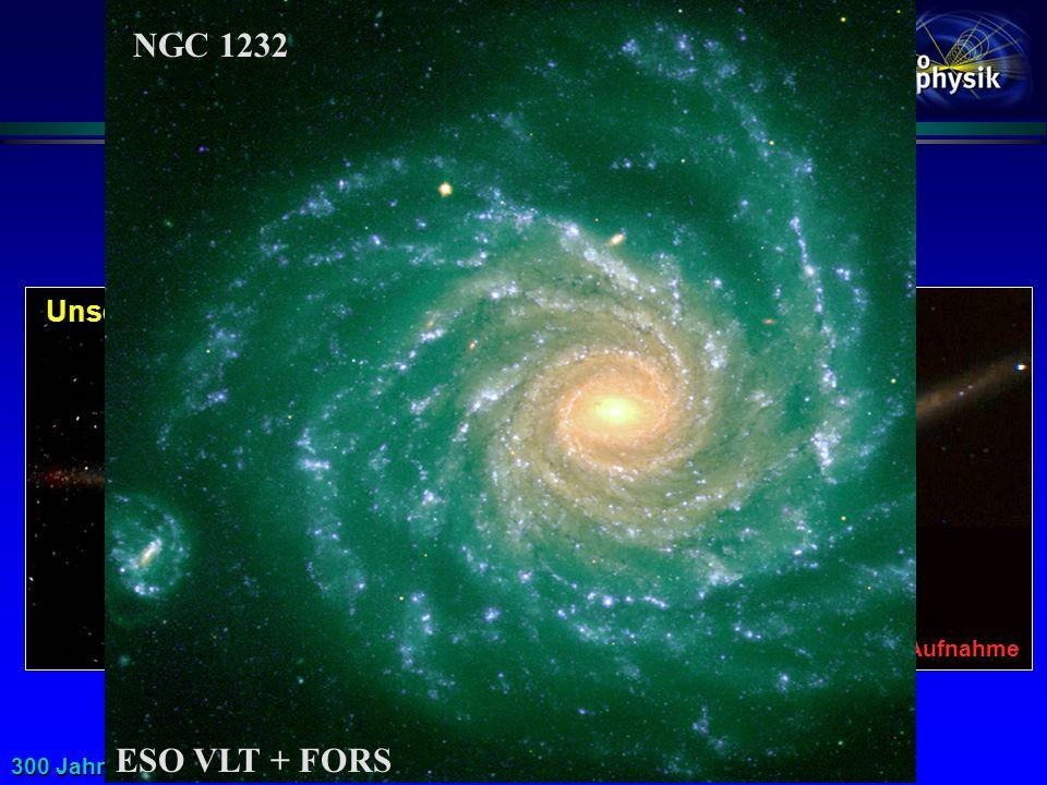300 Jahre Astronomie, Galerie des Universums 10.5.2000 Unsere Milchstraße gemalte Karte Galaxien DIRBE/COBE Infrarot-Karte