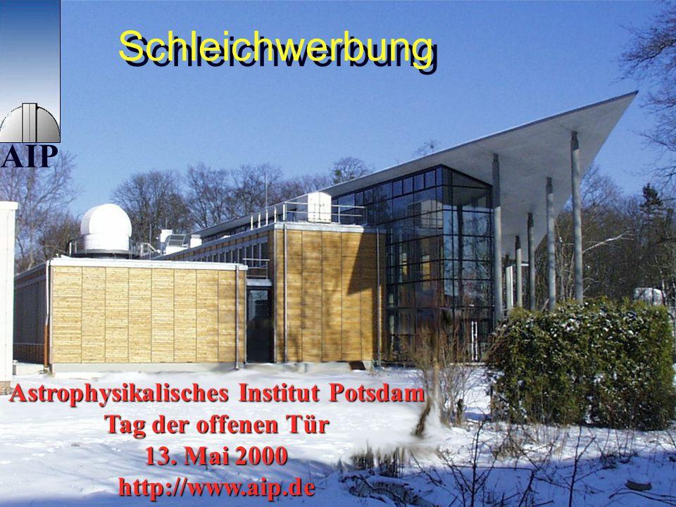 300 Jahre Astronomie, Galerie des Universums 10.5.2000 Danksagung Bundesministerium für Bildung und Forschung (Herrn Wagner) Deutsche Physikalische Ge