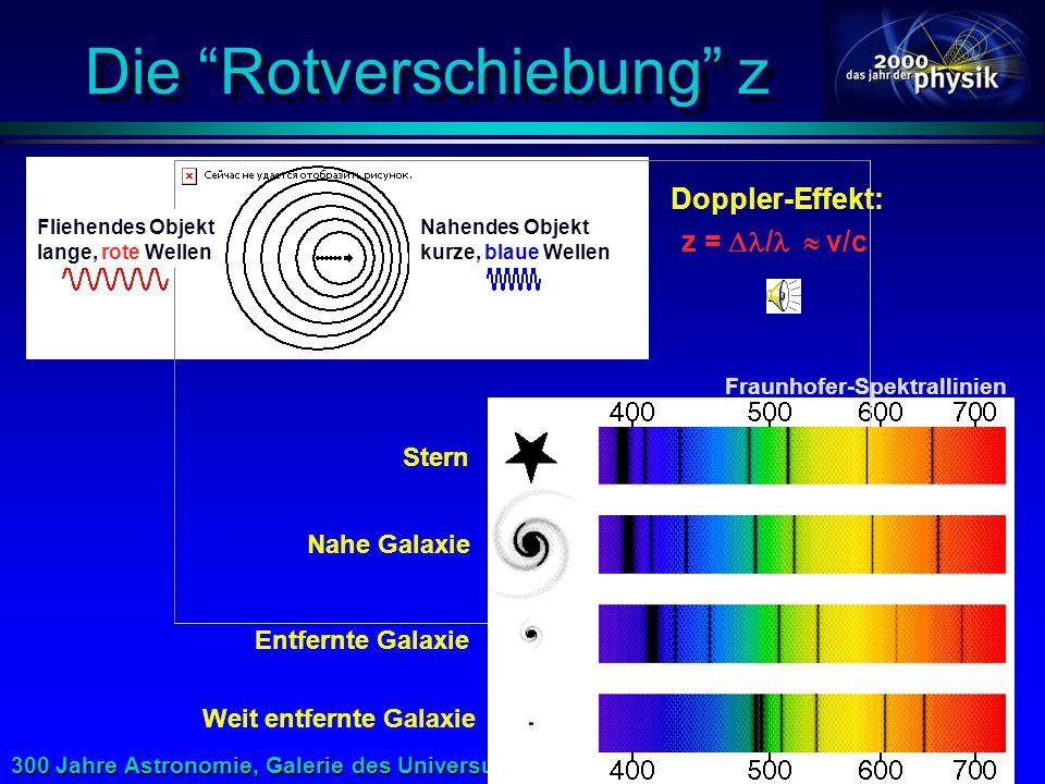 300 Jahre Astronomie, Galerie des Universums 10.5.2000 Der tiefe Blick ins Universum Hubble Deep Field Hubble Space Telescope