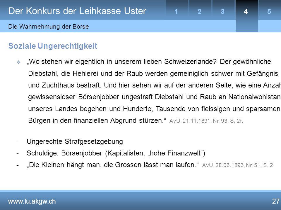"""27 Soziale Ungerechtigkeit  """"Wo stehen wir eigentlich in unserem lieben Schweizerlande."""