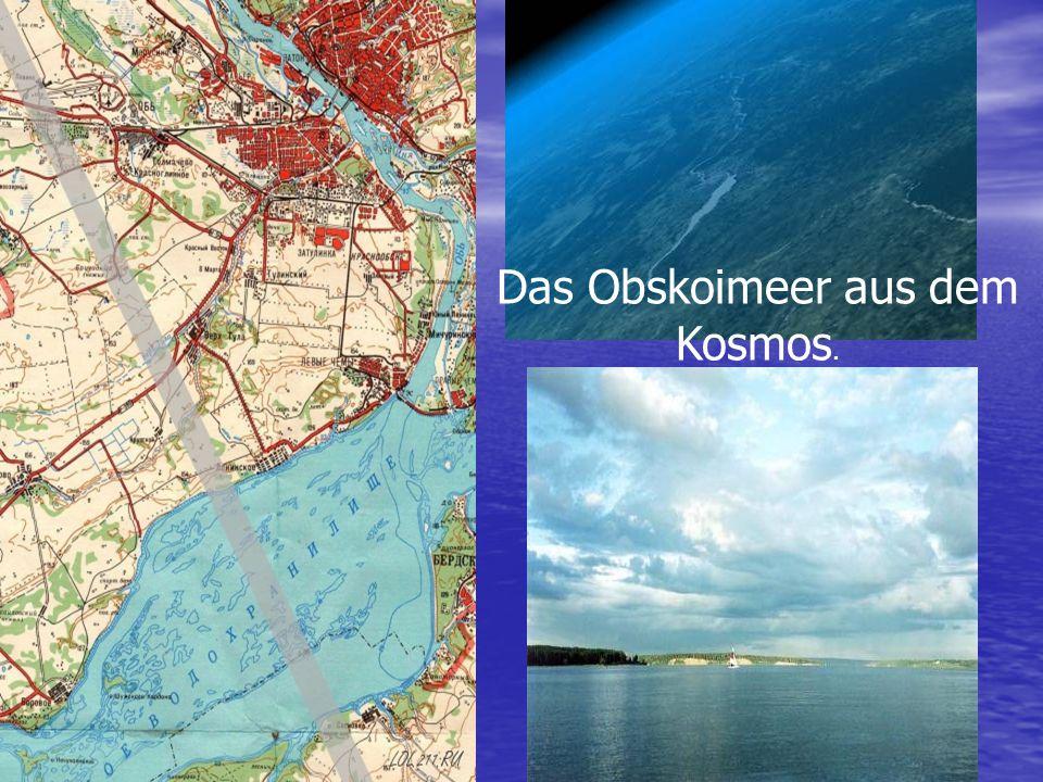 Das Obskoimeer aus dem Kosmos.