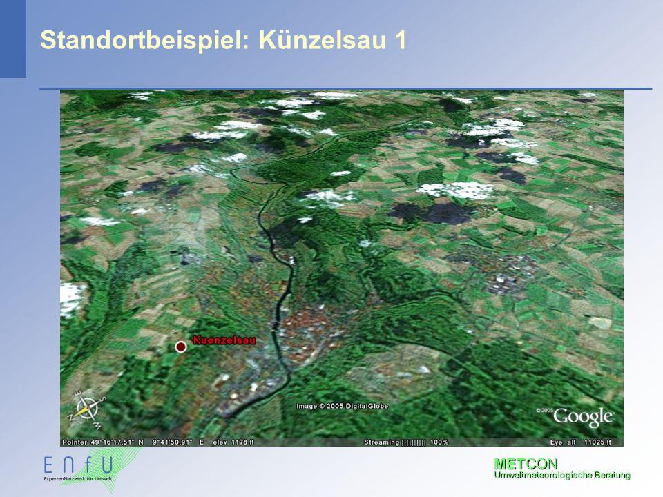 METCON Umweltmeteorologische Beratung Standortbeispiel: Künzelsau 1