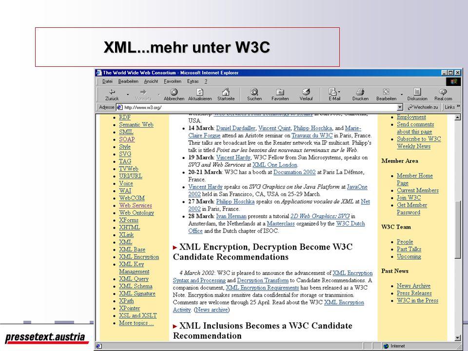 9 Das Paket um XML XML DTD / Schema DOM XPath XSL / XSLT CSS Namespace XLink auch XLL XPointer XQL Web Services