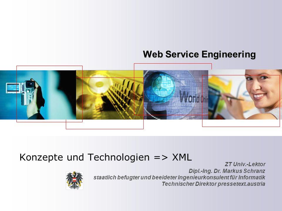 2 Agenda Der XML-Standard Einführung und Beschreibung Content Syndication B2B Content Management – Inhalte aus verschiedensten Quellen XML-DTD-Schema Die Extensible Markup Language im Detail OmniPaper Einsatz von XML in einem IST-Projekt der EU XSL Einsatz von Transformation auf Basis von XML Documenten