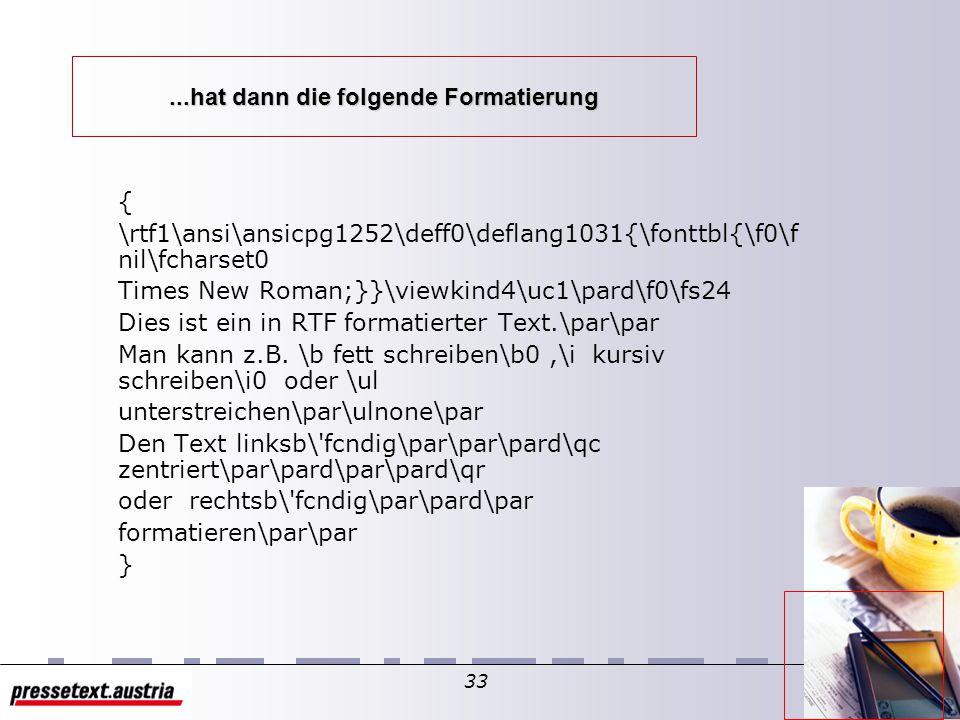 32 Ein mit RTF geschriebener Text