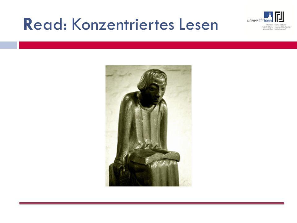 Read: Konzentriertes Lesen