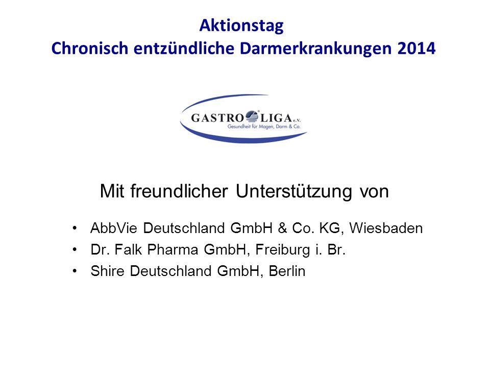 AbbVie Deutschland GmbH & Co. KG, Wiesbaden Dr. Falk Pharma GmbH, Freiburg i. Br. Shire Deutschland GmbH, Berlin Aktionstag Chronisch entzündliche Dar