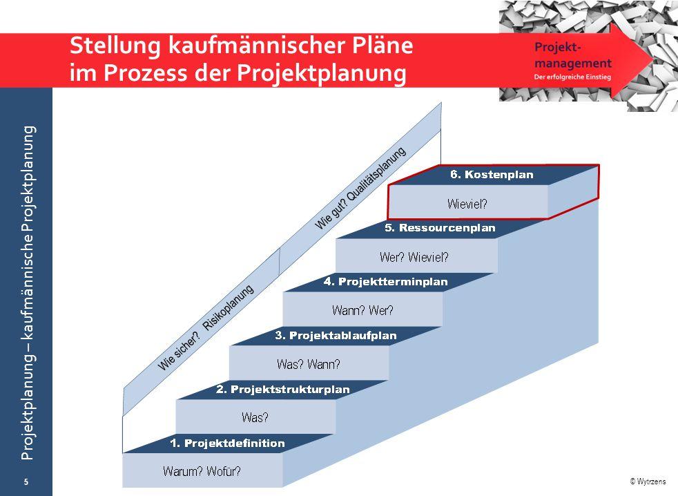 © Wytrzens Projektplanung – kaufmännische Projektplanung Stellung kaufmännischer Pläne im Prozess der Projektplanung 5