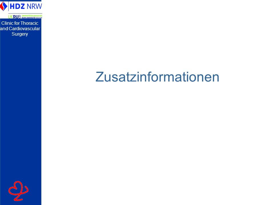 Clinic for Thoracic and Cardiovascular Surgery Zusatzinformationen
