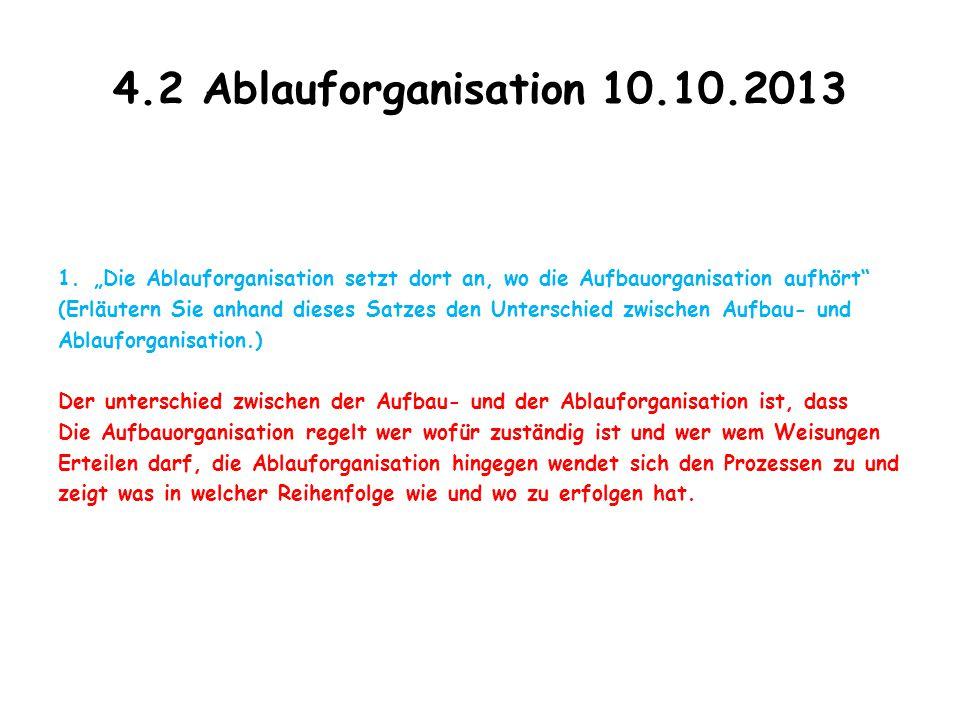 4.2 Ablauforganisation 10.10.2013 2.