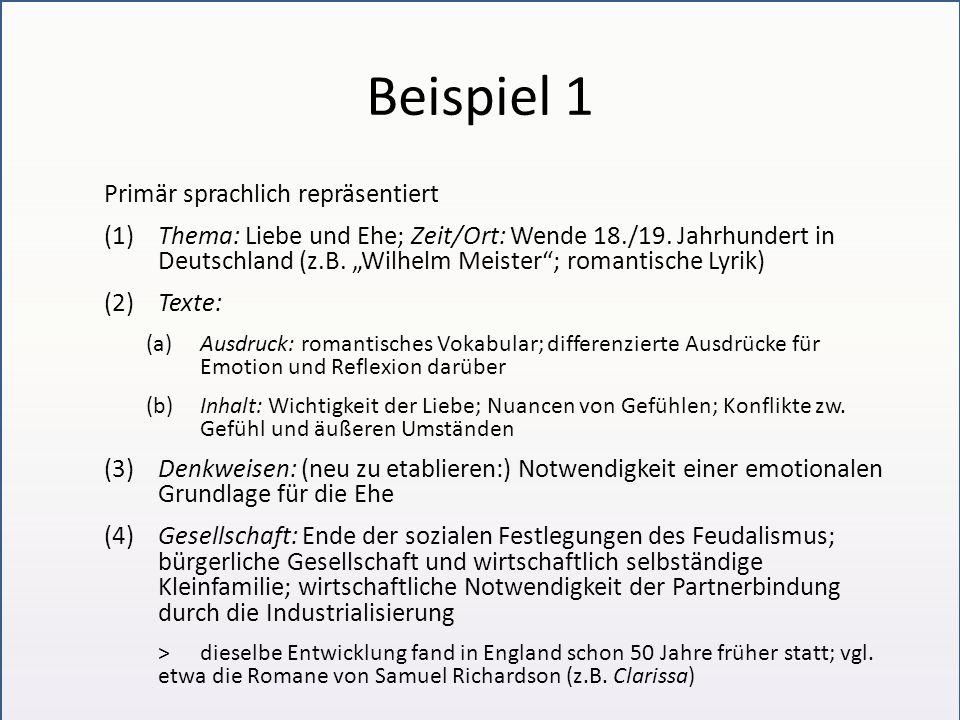 """Beispiel 2 Sprachlich repräsentiert (Beispiel für Veränderung eines Diskurses) (1)Thema: Einwanderung (2)Texte: (a)Ausdruck: (bis 1960er Jahre) """"Fremdländische , (bis 1990er Jahre) Ausländer , (heute) """"Migranten (b)Inhalt: (bis 1990er) Debatte über Unterschiedlichkeit und über Konflikte; (heute) Debatte über Integration (3)Denkweisen: (bis 1990er) Forderung, dass die Ausländer wieder gehen sollen; Ängste vor fremdartig Aussehenden; (heute) Forderung, dass sie sich anpassen sollen; Ängste vor kultureller und religiöser Fremdheit (4)Gesellschaft: (durchgehend) Bedarf an ausländischen Arbeitskräften; (bis 1990er) Bedarf an Fabrikarbeitern; (heute) Bedarf an Facharbeitern und Akademikern, die nicht beliebig austauschbar sind"""