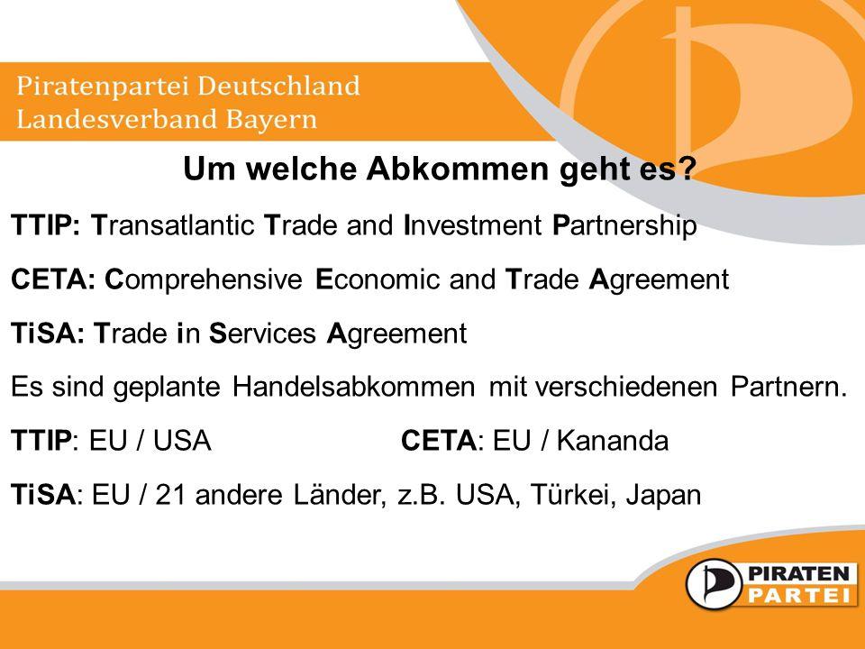 Warum ist das Freihandelsabkommen (TTIP) für uns gefährlich.