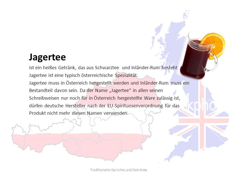 Jagertee ist ein heißes Getränk, das aus Schwarztee und Inländer-Rum besteht. Jagertee ist eine typisch österreichische Spezialität. Jagertee muss in
