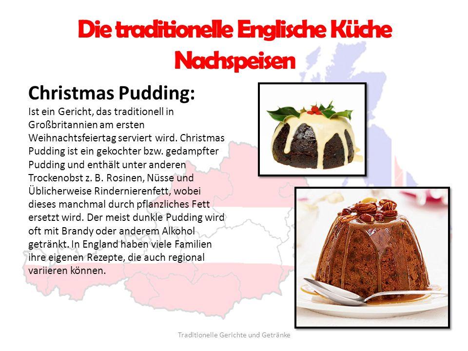 Die traditionelle Englische Küche Nachspeisen Christmas Pudding: Ist ein Gericht, das traditionell in Großbritannien am ersten Weihnachtsfeiertag serv