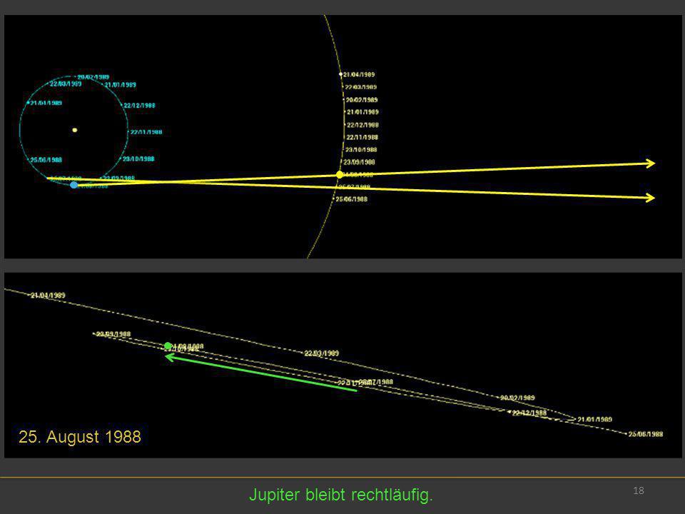 18 25. August 1988 Jupiter bleibt rechtläufig.