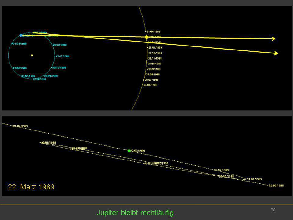 28 22. März 1989 Jupiter bleibt rechtläufig.