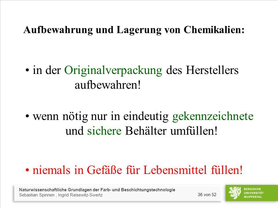 Naturwissenschaftliche Grundlagen der Farb- und Beschichtungstechnologie Sebastian Spinnen, Ingrid Reisewitz-Swertz 36 von 52 in der Originalverpackun