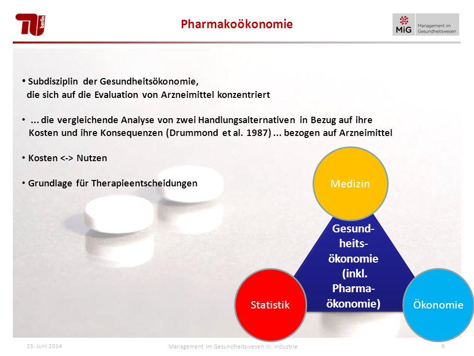 Subdisziplin der Gesundheitsökonomie, die sich auf die Evaluation von Arzneimittel konzentriert...