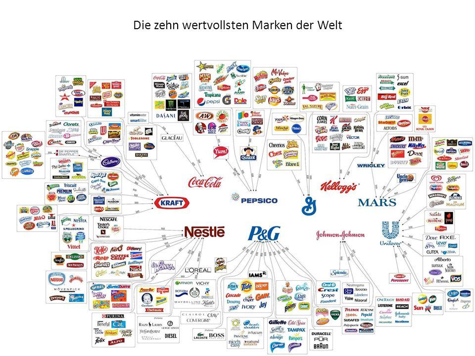Die zehn wertvollsten Marken der Welt Platz 10 Der Marlboro-Hersteller Philip Morris belegt mit einem Markenwert von 44,84 Milliarden Euro den zehnten Rang.
