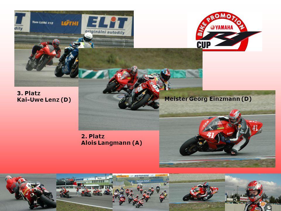 3. Platz Kai-Uwe Lenz (D) 2. Platz Alois Langmann (A) Meister Georg Einzmann (D)