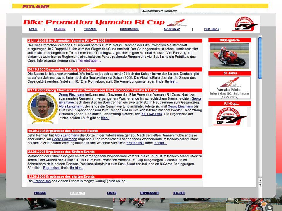 Die Hauptlast der Vermarktung des Yamaha R1 Cups lag bei der Fernsehberichterstattung durch K28.