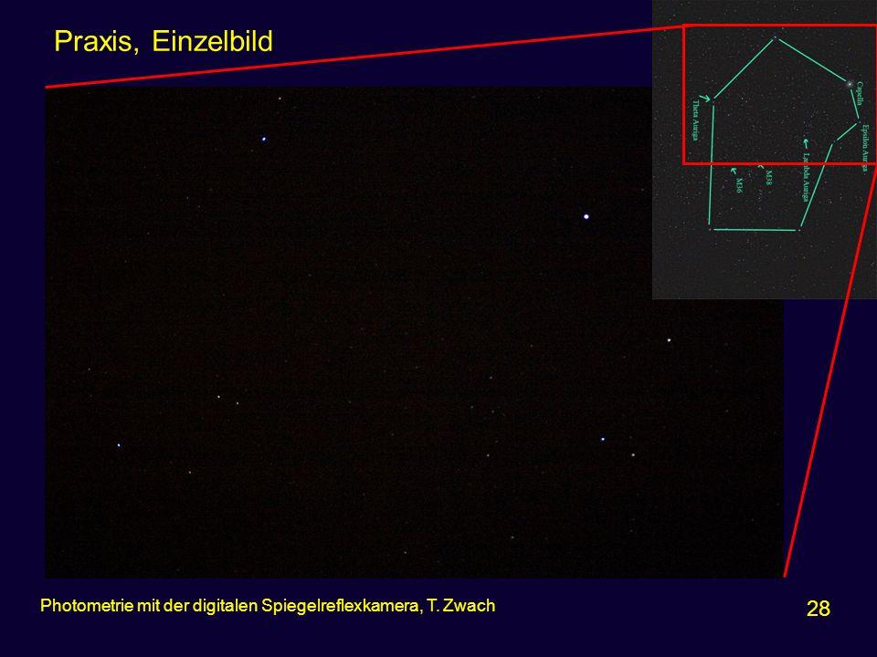 Praxis, Einzelbild 28 Photometrie mit der digitalen Spiegelreflexkamera, T. Zwach