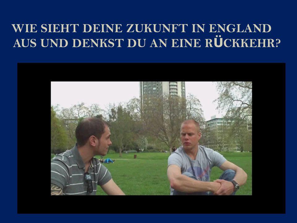 Michael Moser und Manuel Albrecht haben im Internet nach Menschen die nach London ausgewandert sind recherchiert.