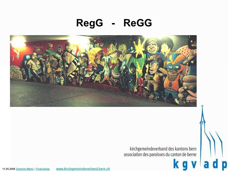 11.05.2008 Stephan Marti – Finanzblog www.kirchgemeindeverband-bern.chStephan Marti Finanzblog www.kirchgemeindeverband-bern.ch RegG - ReGG Regelwerk für die Bewertung von Verfahren, Technologien und Materialien zur Graffitientfernung und Graffitiprophylaxe (ReGG)