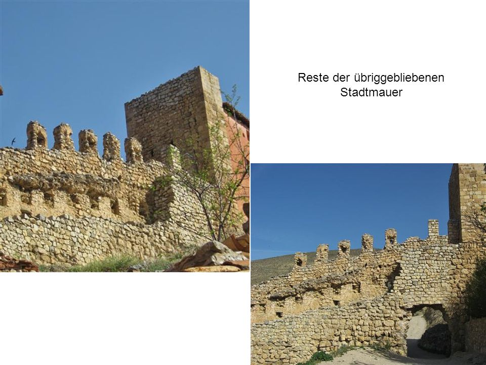 Reste der übriggebliebenen Stadtmauer