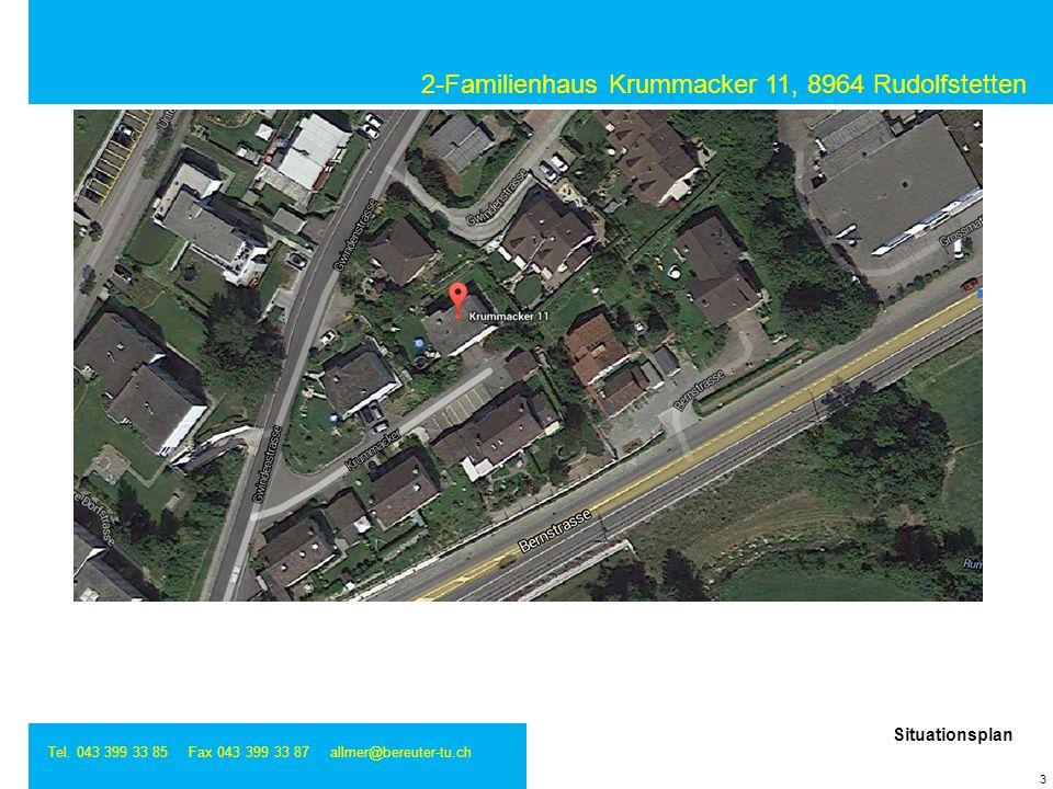 2-Familienhaus Krummacker 11, 8964 Rudolfstetten Tel. 043 399 33 85 Fax 043 399 33 87 allmer@bereuter-tu.ch 3 Situationsplan
