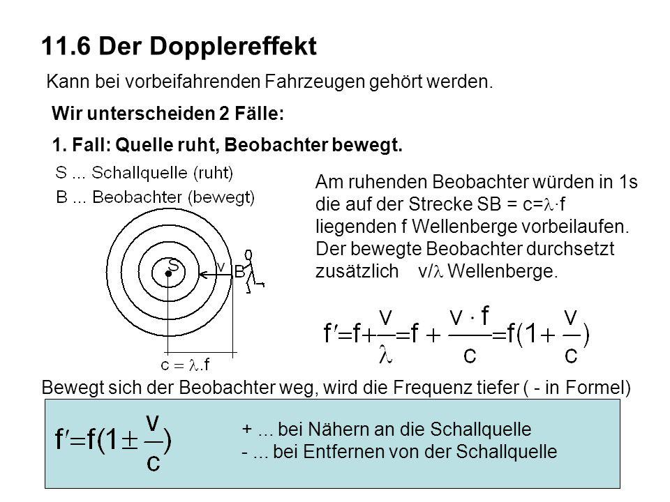 Kapitel 11 - Wellen Christian Doppler (1803 – 1853) 11.6 Der Dopplereffekt