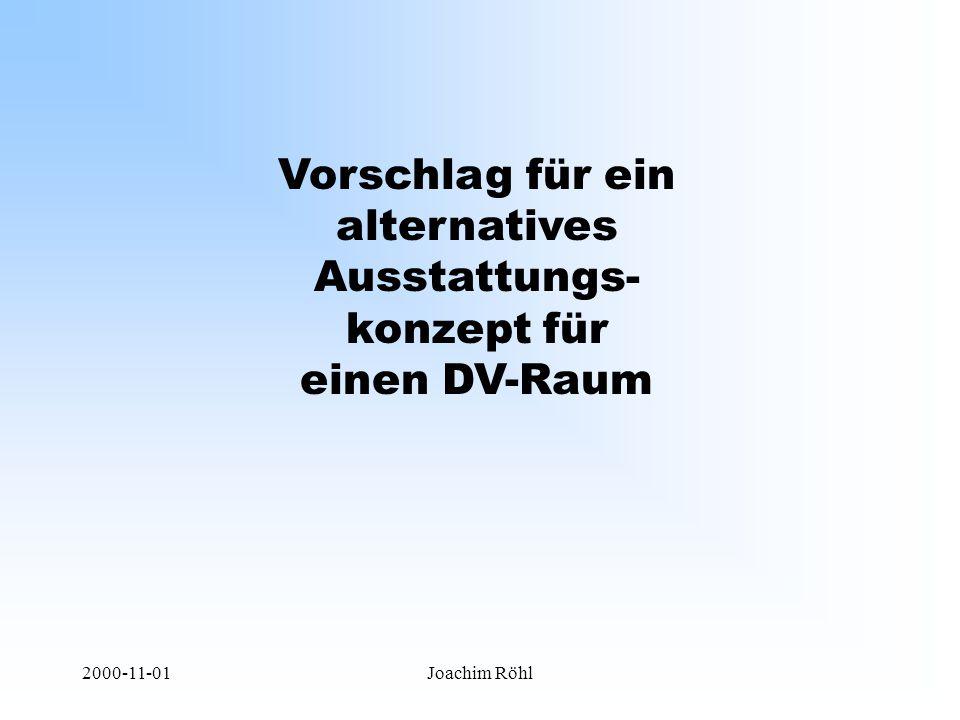 2000-11-01Joachim Röhl Vorschlag für ein alternatives Ausstattungs- konzept für einen DV-Raum