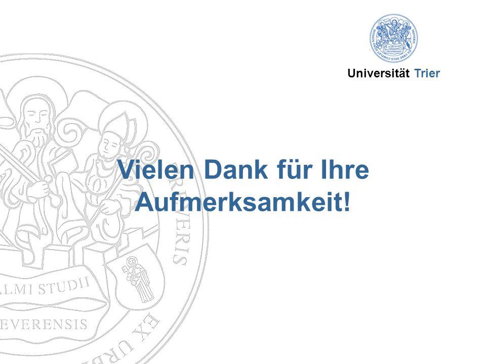 Universität Trier Vielen Dank für Ihre Aufmerksamkeit!