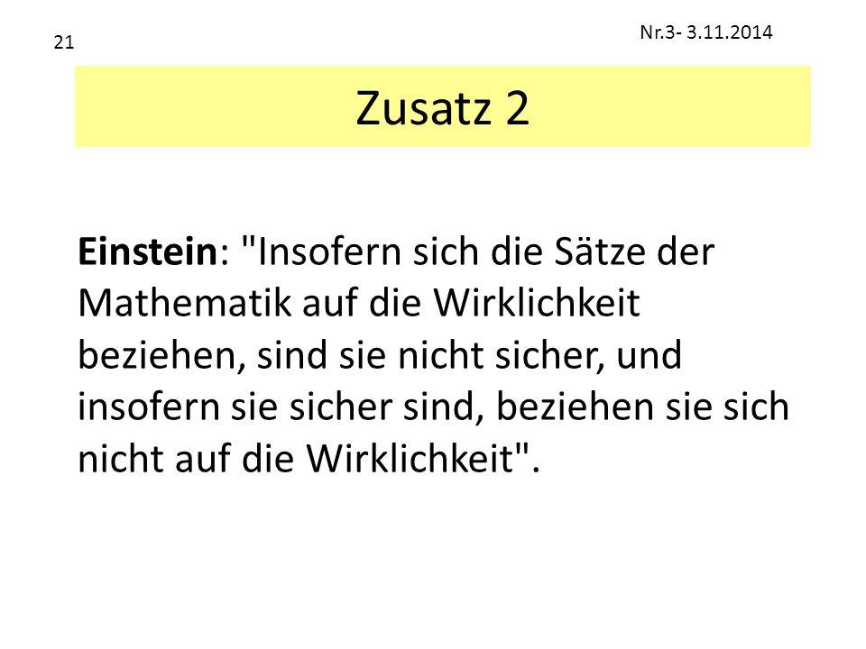 Zusatz 2 Einstein: