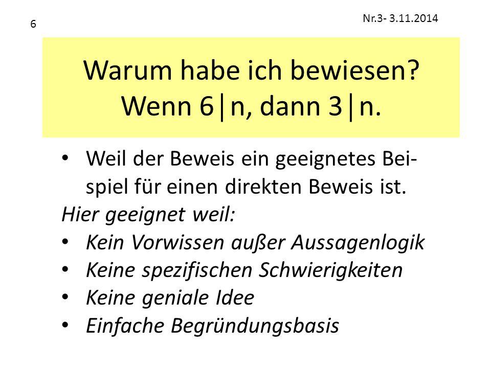 Beispiel aus Klasse 7 Beweise: α+β+γ = 180° 1.Zeichne g││h ; Idee 2.β´= α ; Wech.W-Satz 3.α´= β ; Wech.W-Satz 4.β´+γ+α´= 180°; Neben-W-Satz 5.