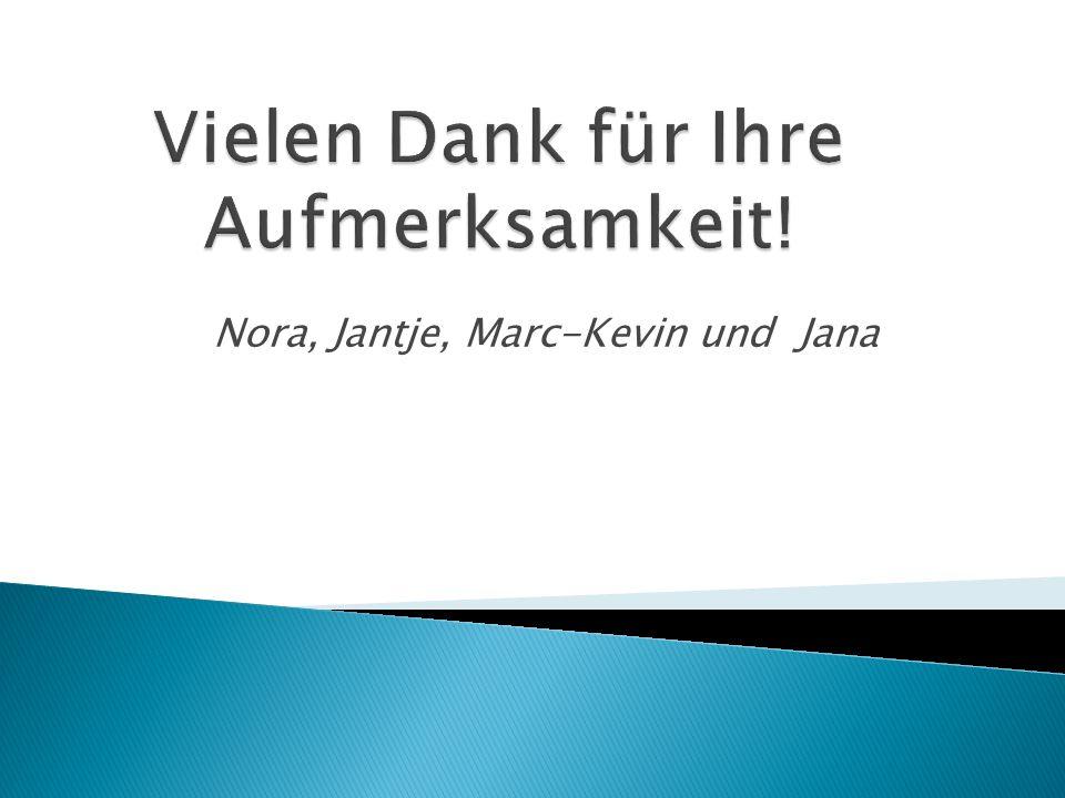 Nora, Jantje, Marc-Kevin und Jana
