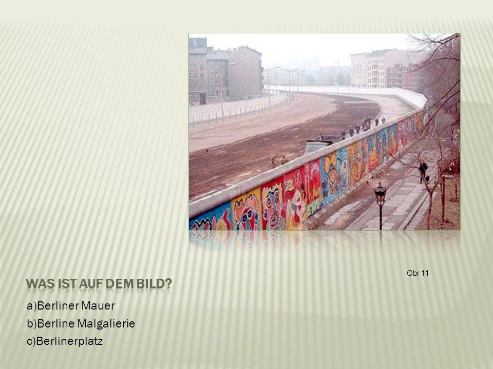 a)Berliner Mauer b)Berline Malgalierie c)Berlinerplatz Obr 11