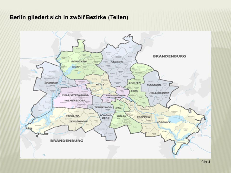 Berlin gliedert sich in zwölf Bezirke (Teilen) Obr 4