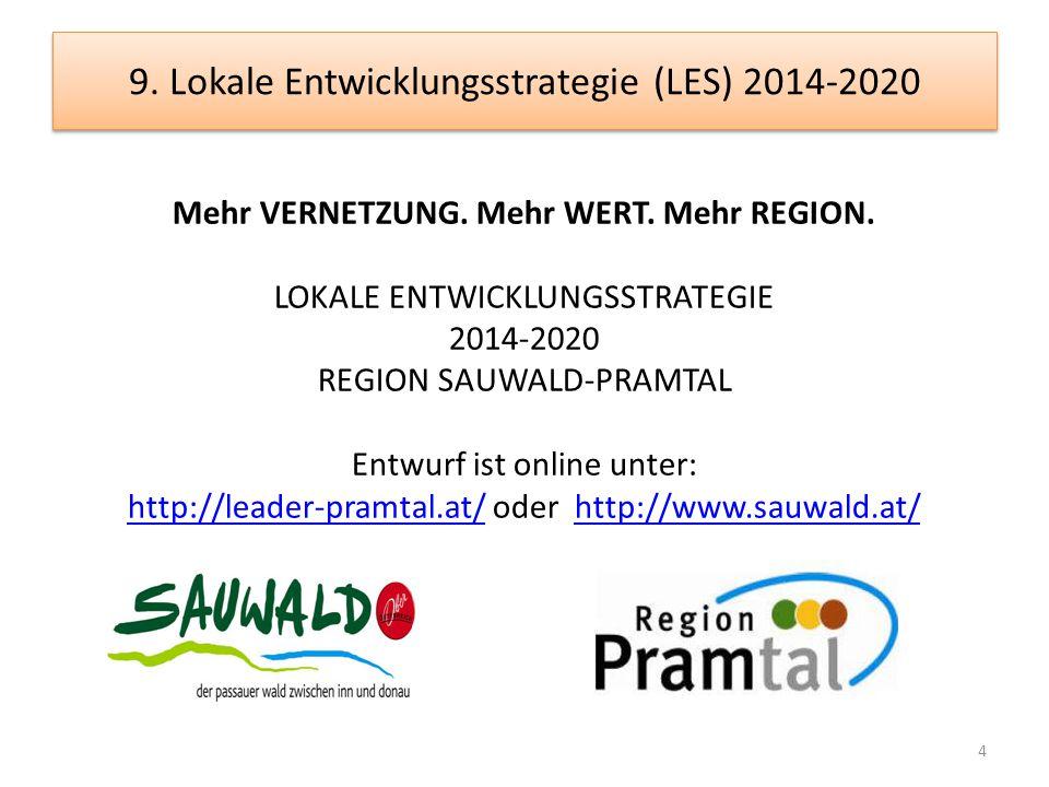 9. Lokale Entwicklungsstrategie (LES) 2014-2020 4 Mehr VERNETZUNG.