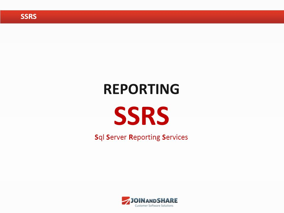 REPORTING SSRS Sql Server Reporting Services SSRS