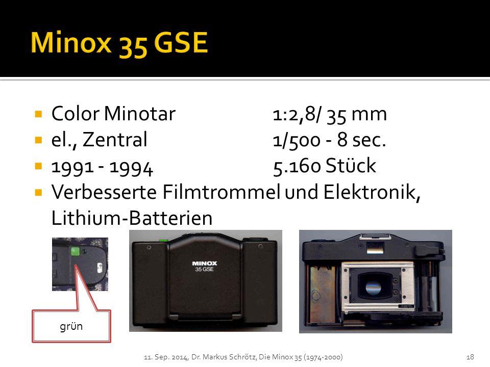  Color Minotar1:2,8/ 35 mm  el., Zentral1/500 - 8 sec.