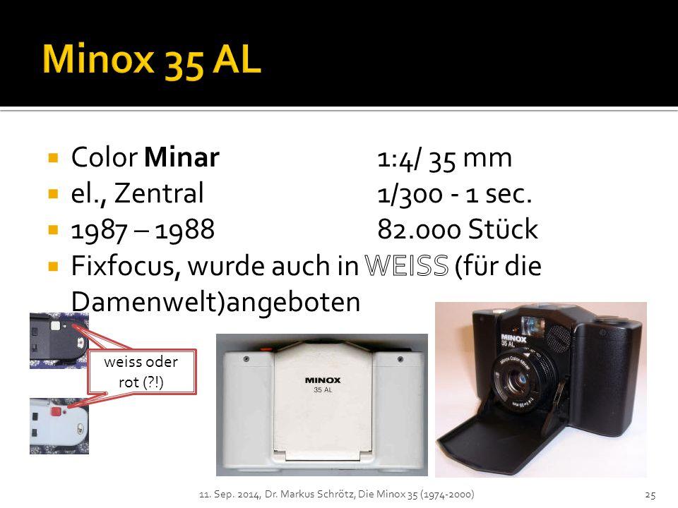 11. Sep. 2014, Dr. Markus Schrötz, Die Minox 35 (1974-2000)25 weiss oder rot (?!)