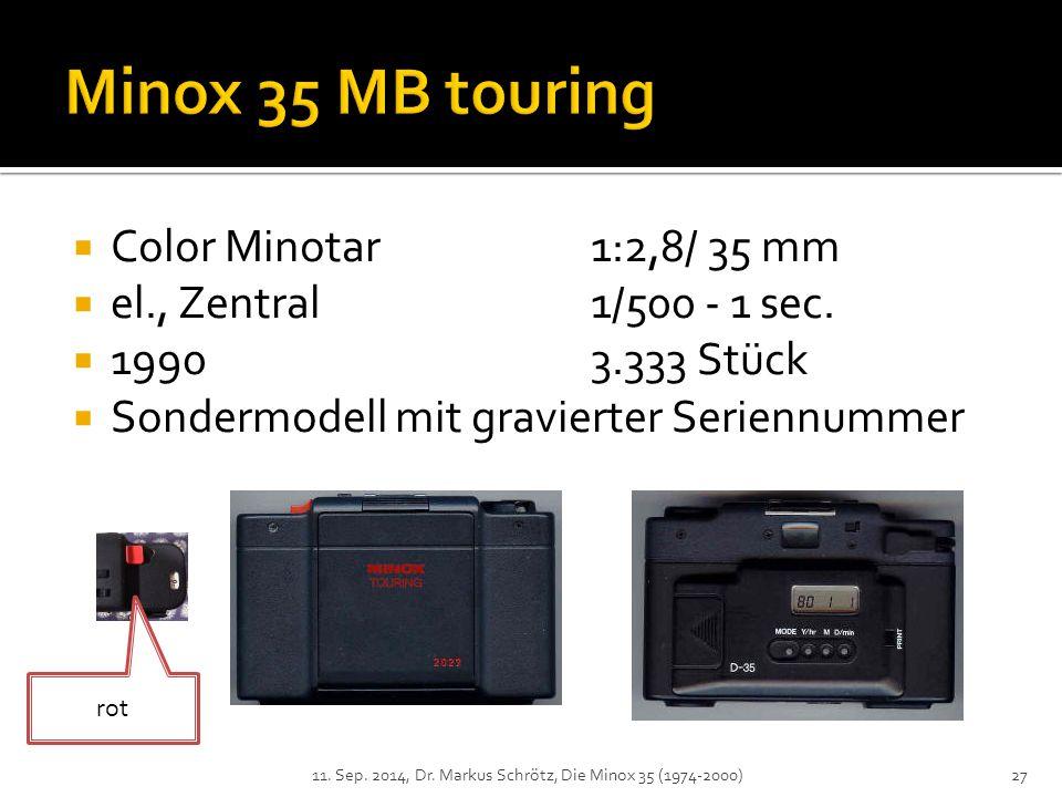  Color Minotar1:2,8/ 35 mm  el., Zentral1/500 - 1 sec.