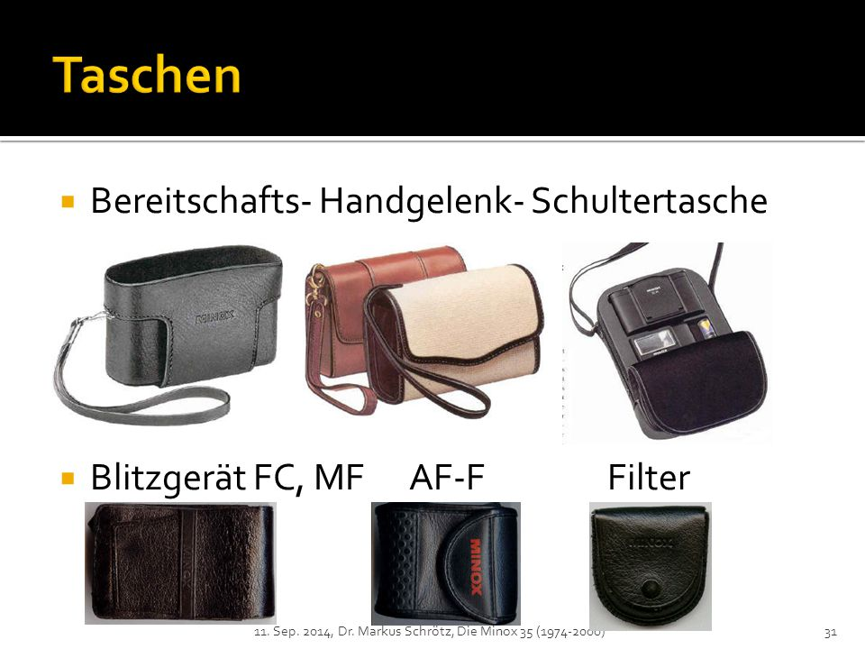  Bereitschafts- Handgelenk- Schultertasche  Blitzgerät FC, MF AF-F Filter 11.