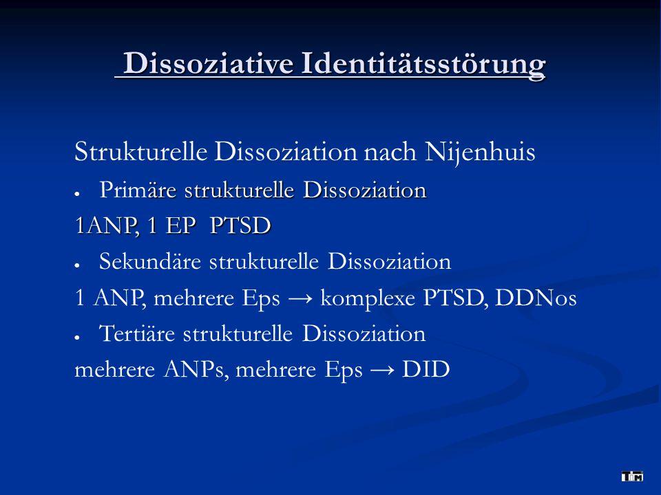 Dissoziative Identitätsstörung Dissoziative Identitätsstörung Strukturelle Dissoziation nach Nijenhuis äre strukturelle Dissoziation  Primäre struktu
