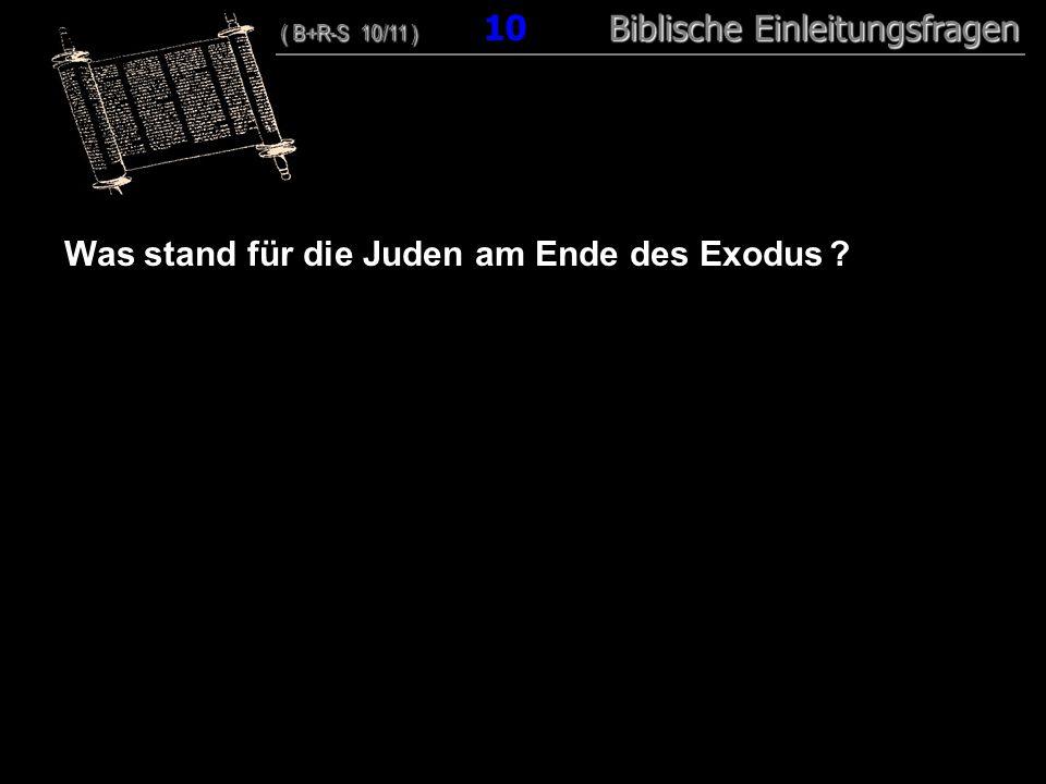10 Was stand für die Juden am Ende des Exodus ? ( B+R-S 10/11 ) Biblische Einleitungsfragen ( B+R-S 10/11 ) 10 Biblische Einleitungsfragen